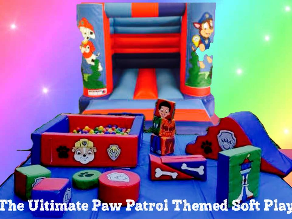Paw Patrol themed party - paw patrol themed soft play hire