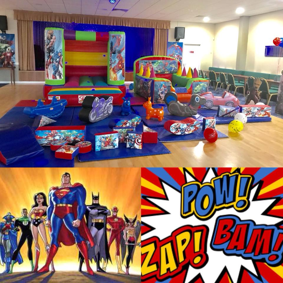 Super Hero Soft Play Hire - Super Hero Party - Pulse Entertainments